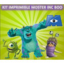 Kit Imprimible Moster Inc Boo3