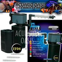 Filtro Interno Aqua Zonic Evo Ef04 2000l/h Carbon + Lluvia