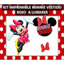 Kit Imprimible Minnie Vestido Rojo A Lunares