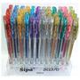 Exhibidor De Boligrafos Sipa De Gel C / Glitter X 60 Un.