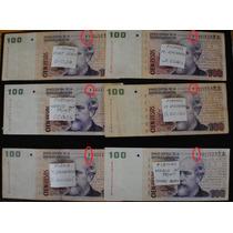 6 Billetes Reposicion 100 Pesos Convertibles-dif.firmas