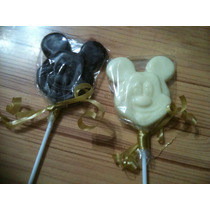 Chupetines De Chocolate De Mickey