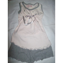 Pijama Cheeky Rosa Y Gris Con Estrellitas