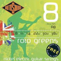 Rotosound R8 Roto Green Níquel Eléctrica 0.08-0.038