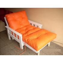 Futon Un Cuerpo C/piecera Lustre + Ecocuero Color 100% Copos