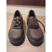Zapato Cuero Marron - Nº 30 - Nuevos - Colegial