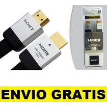 Cable Hdmi Sony 3d 1.4 2 Mts Full Hd 1080p Ficha Oro Blister