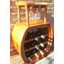 Bodega Barril De Algarrobo Con Copero, Para 12 Botellas