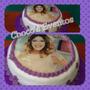Torta Infantil Con Foto De Violetta X 2,5kg