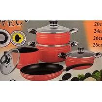 Juego De Ollas Sarten De Ceramica Black Ceramic Pan Nuevas