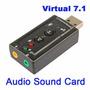 Placa De Sonido Usb Externa Audio 7.1 Surround Virtual 3d