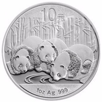 10 Yuan Moneda Onza Plata 999 Panda 2013 Unica Banco D China