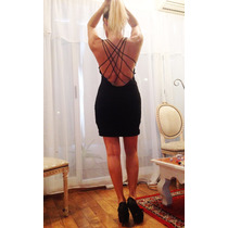 Vestido Espalda Descubierta Negro
