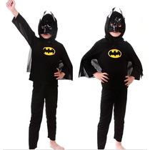 Disfraz Batman Pantalon Remera Y Mascara Capa Varios Talles