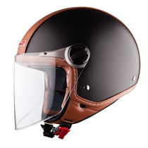 Casco Abierto Ls2 Of560 Beetle Mat Black C Visor Devotobikes
