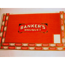 Antigua Etiqueta Cigarros Habanos Banker