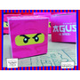 Souvenir Evento Personalizado Cumple Caja Lego Ninjago Rosa