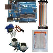 Kit Arduino Uno R3 Proto Utrasonico Servo Cables M-h Quilmes