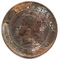 Moneda Antigua Argentina.1 Centavo 1884.impecable Y Hermoso