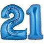 Globos 30cm Números Azul Cumpleaños Aniversarios Boda Fiesta