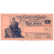 Billete Antiguo Argentina.1 Peso.impecable Y Hermoso