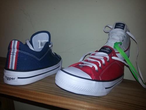65dc8801 Zapatillas Topper Derby Original Para Niños Y Niñas Lona. Precio: $ 775 Ver  en MercadoLibre