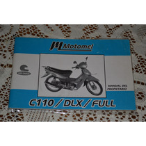 Motomel C110 Dlx Full Manual De Propietario Original