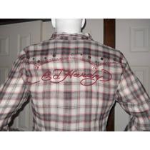 Camisas Ed Hardy -bordadas-piedras Y Tachas Unicas!