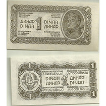 Billete Yugoeslavia Año 1944 1 Dinar 2da Guerra Sin Circular