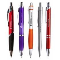 100 Bolígrafos Publicitarios Importados Con Tu Logo!!!