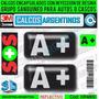 Grupo Sanguineo A+ (pos.) Reflectivo Para Autos Y Cascos 3d