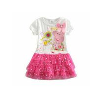 Vestido Disfraz Peppa Pig Nena Tull Y Brillos! T. 1 A 3 Años
