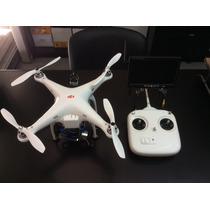 Cuadricoptero Dji Phantom Gimbal Fpv 5 Baterías Monitor
