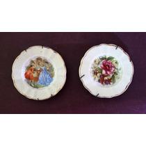 Platitos Decorativos Miniatura De Porcelana