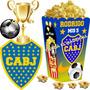 Kit Imprimible Boca Juniors Candy Bar Cotillon Tarjetas 2x1