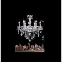Elumi- Deco-vintage Araña 6 Luces Cristal Caireles Nuevas