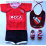 Kit Bebe Independiente Camiseta+escarpin+short+babero Racing