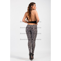 Calza Animal Pirnt-leopardo-cola Drapeada-efecto Push Up