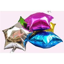Pack X 100 Globos Metalizados Estrellas 45cm 18 Apto Helio