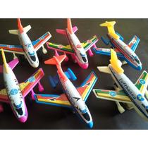 Set X 6 Aviones Antiguos Juguete Hojalata Chapa Japones