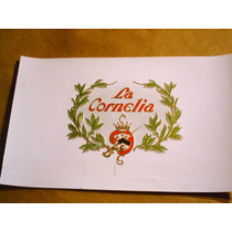 Antigua Etiqueta Cigarros Habanos La Cornelia Usa Imp.