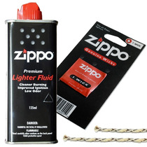 Bencina Zippo 125 Ml + Mecha De Repuesto Zippo