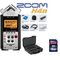 Grabador Zoom H4n Con Accesorios + Skb Case + Memoria 16 Gb
