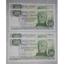 2 Billete 500 Pesos Argentina - Correlativos