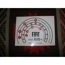 Calco Autohadesiva Velocidades En Ablande Fiat 600