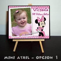 Minnie Rosa Roja - 10 Mini Atril Souvenirs De Cumpleaños