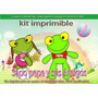 Kit Imprimible Y Candy Bar Sapo Pepe Invitaciones Cotillon