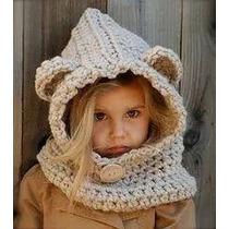 Gorro Capucha Tejido Al Crochet