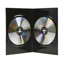 50 Estuches Dvd Dobles 14mm Negros Resistentes Y De Calidad