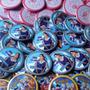 100 Pins Personalizado Publicitario 55 Mm Regalo Vive-ideas